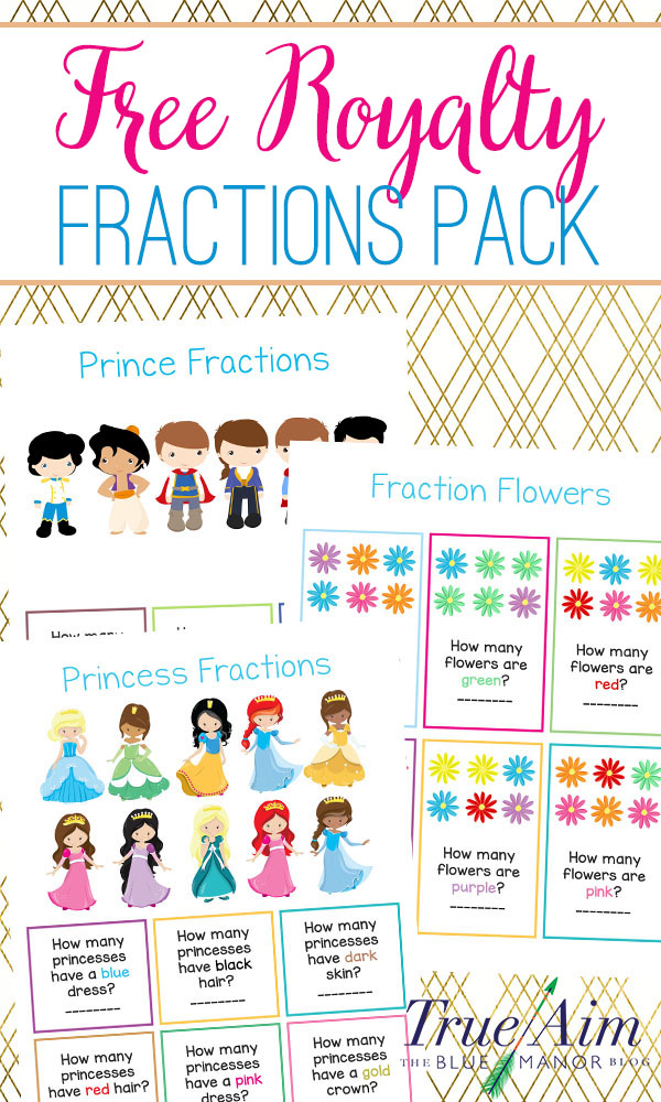 Teach fractions to preschool and kindergarten students with this free royalty fractions pack! It is three pages and is great for an intro to fractions.
