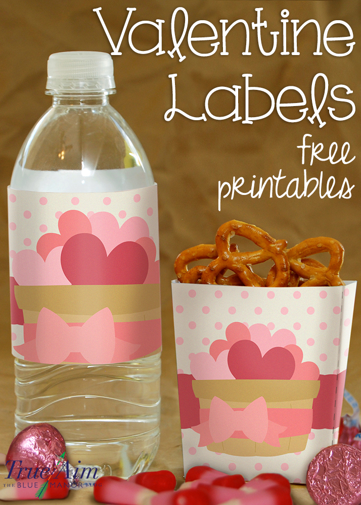 Valentine Boxes And Water Labels Free Valentine Printable