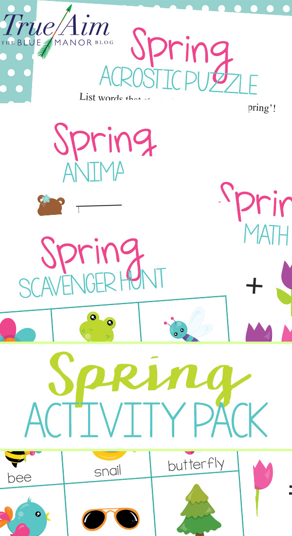 Celebrate spring with this free spring activities pack for preschool and kindergarten! Practice math, literacy, and go on a spring nature scavenger hunt.