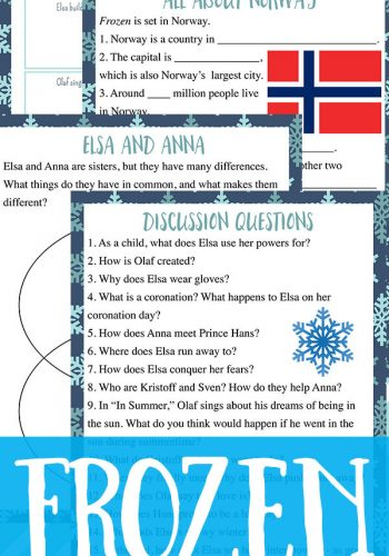 Frozen Movie Study Guide: Free Printable
