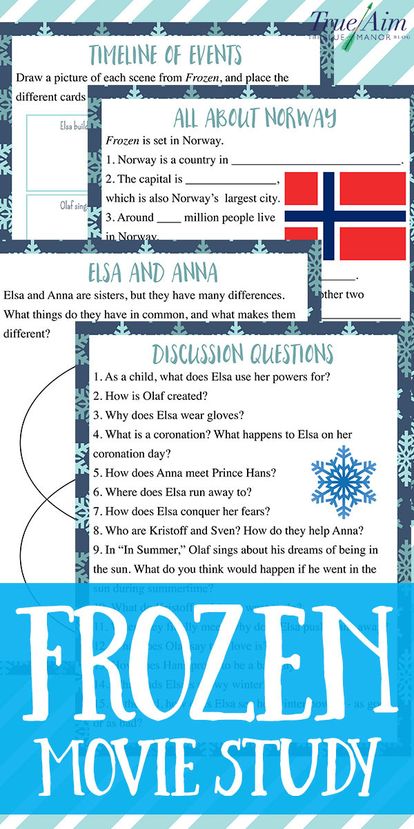 Turn Frozen into a learning opportunity with this Frozen movie study guide, which includes discussion questions, a study on Norway, timeline, and more!