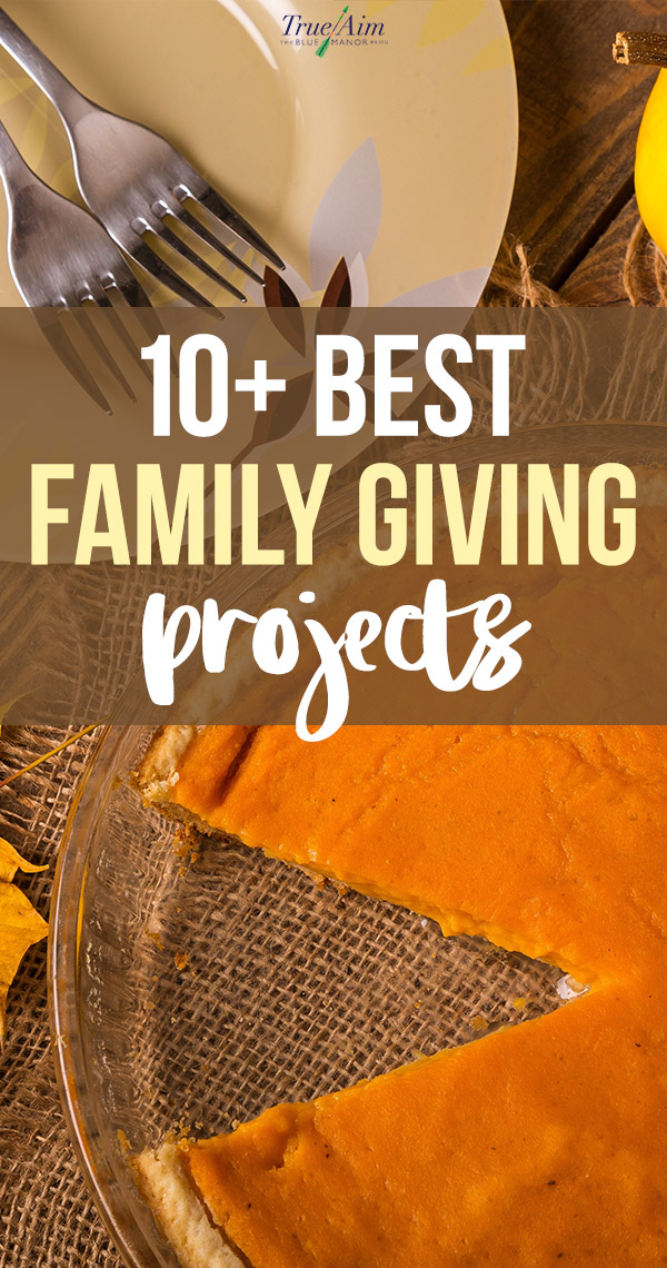 Thanksgiving is a time for being thankful for all of our blessings. It can also be a lovely time to give back. Here are 10+ of the best family giving projects.