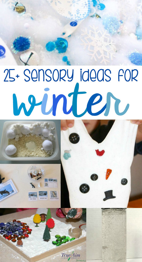 It's headed towards winter! As you experience the change in seasons, try these 25+ winter sensory ideas for kids!