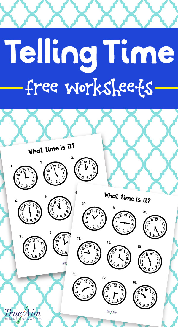 Teaching Telling Time with Free Printable Worksheets