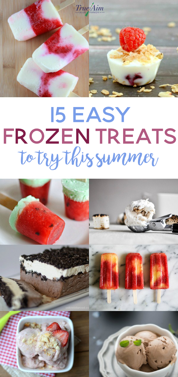 Summer is quickly approaching! Get kids cooking and make these simple frozen treats to cool down with this summer.