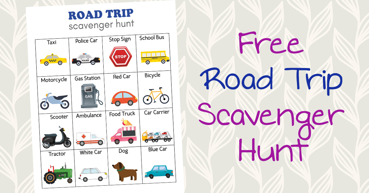 photograph about Road Trip Scavenger Hunt Printable referred to as Cost-free Highway Family vacation Scavenger Hunt Printable, Display Totally free Street Holiday