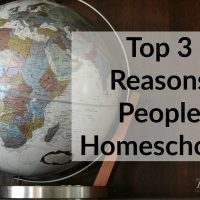 (Giveaway) Top 3 Reasons People Homeschool
