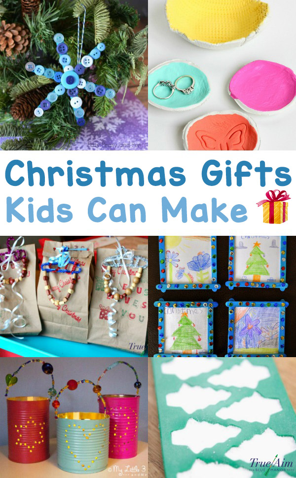 Get the kiddos in the season of giving with these simple Christmas gifts that kids can make. They are great for friends, neighbors, grandparents, or parents!