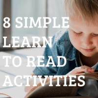 (GIVEAWAY) 8 Simple Learn To Read Activities