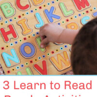 3 Easy Learn to Read Puzzle Activities!