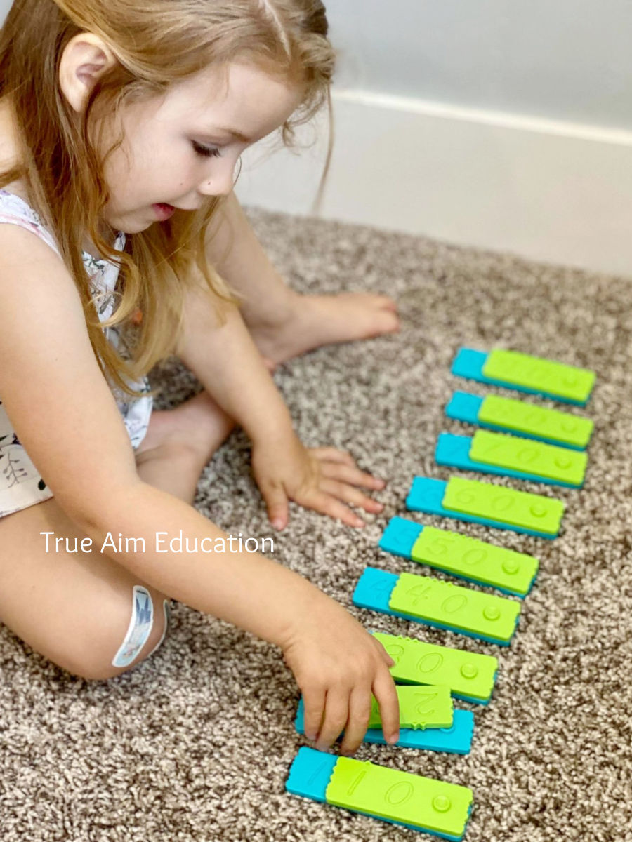 place value math with manipulatives